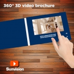 360 degree Video Brochures 7 inch screen